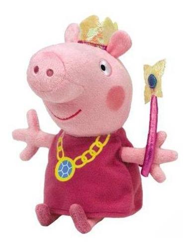 Imagem 1 de 3 de Peppa Pig Pelúcia 20cm  Varinha E Coroa  Original Dtc