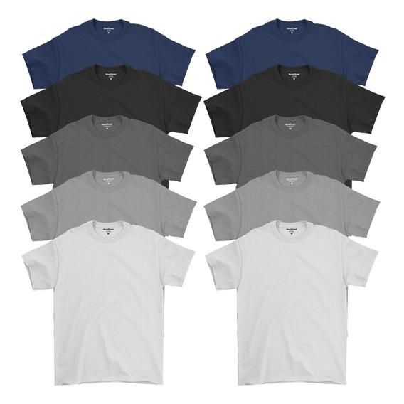 Kit 10 Camisetas Masculinas Atacado Básica Algodão Premium