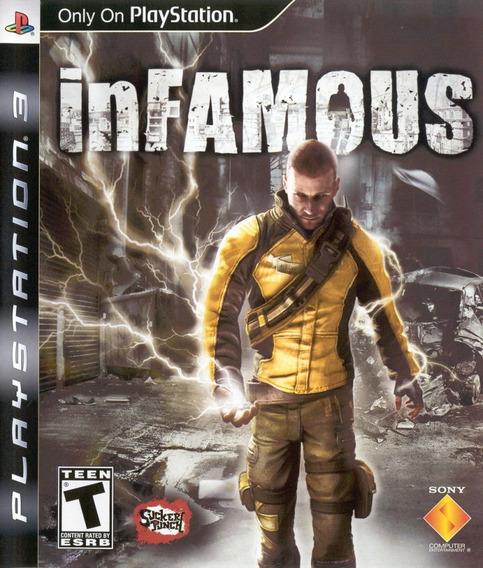 Jogo Infamous 1 Playstation 3 Ps3 Mídia Física Mundo Aberto