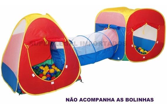Toca Barraca Infantil 3 Em 1 Com Tunel Original Frete Gratis