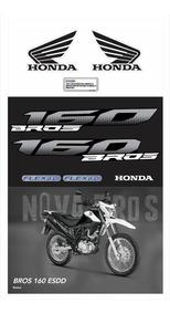 Kit Adesivo Moto Honda Bros Branca 160 Esdd 2016 Ca11503