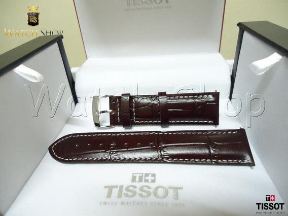 Pulseira De Couro Tissot V8 T106417a 22mm Marrom Lançamento
