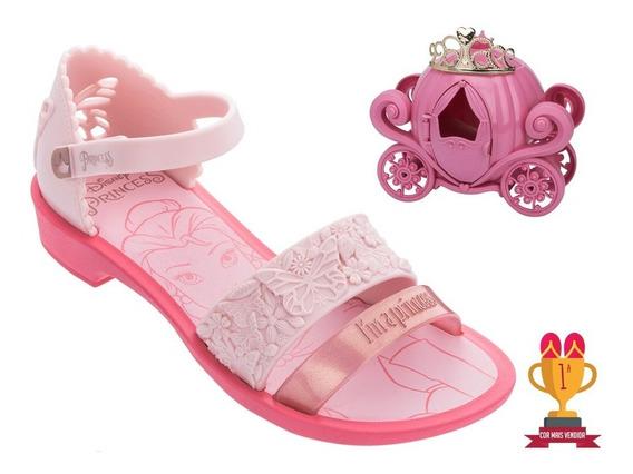 Sandália Infantil Princesas Fairytale Acompanha Brinde Carruagem E Tiara Grendene Kids Original