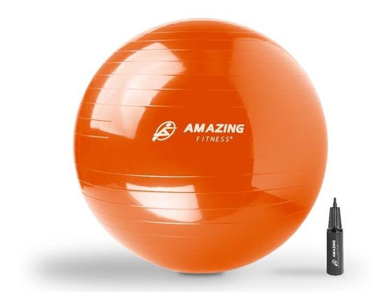 Pelota Pilates 55 Cm Con Bomba De Aire Amazing Fitness®