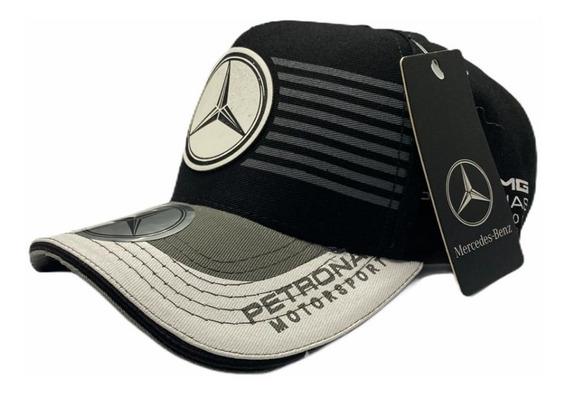 Boné Mercedes Benz Amg Petronas Fitão Strapback Ajustável