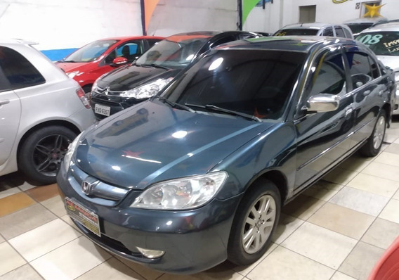 Honda Civic Lxl 1.7 Gasolina, Manual, Completo, 2005, Cinza