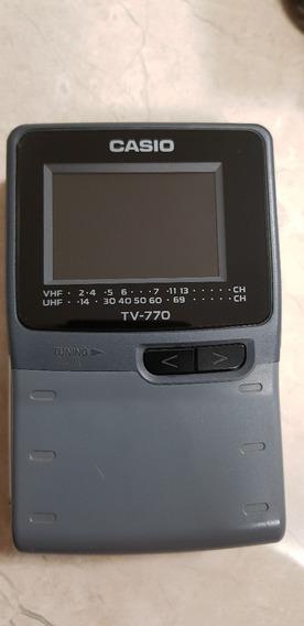 Mini Tv Portatil Casio Tv-770 - Lcd 2.3 Poleg - Funcionando