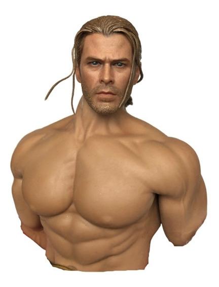 Cabeza Thor Casual Para Figuras Hot Toys 1/6 Emc