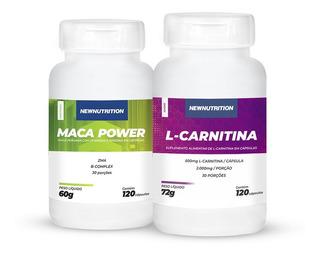 Kit Maca Power + L-carnitina Newnutrition
