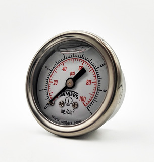 Manómetro De 63 Mm Posterior 0-6000 Psi Con Glicerina 1,5%