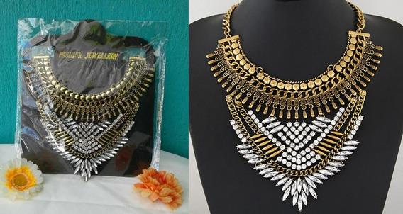 Collar De Moda Herreria Y Cristal Para Dama