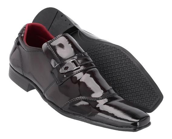 Sapato Social Masculino Em Verniz Ref:1051