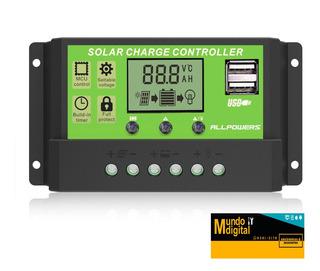 Controlador Solar 20amp 12v/24v Auto Paremeter Adjustable