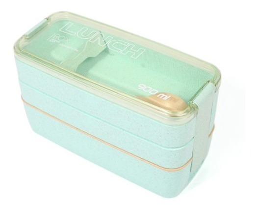 Lunch Box Lonchera P/ Almuerzo De Fibra De Trigo 900ml