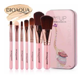 Bioaqua Set 7 Mini Brochas Profesionales Rose Gold Makeup