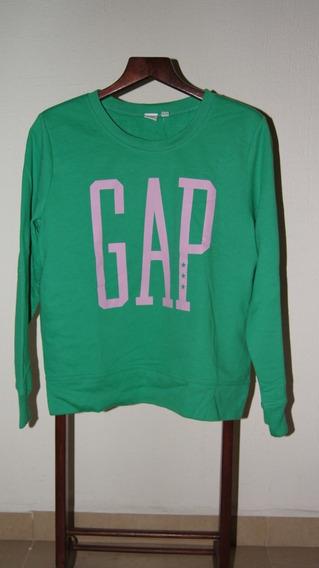 Gap Sudadera Cuello Redondo Para Mujer Con Logo Color Verde