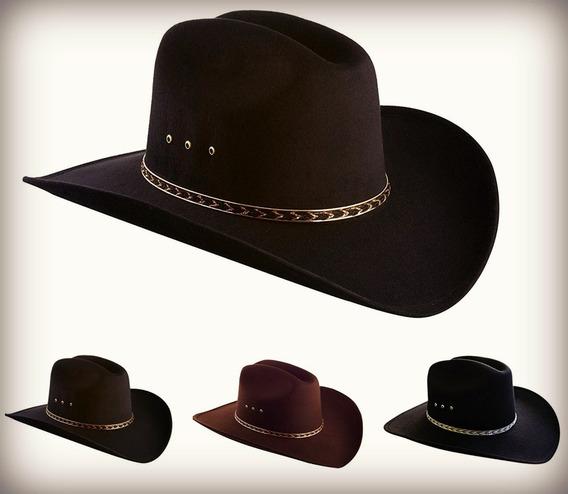 Sombrero De Vaquero Con Imitación Fieltro De Borde Ancho
