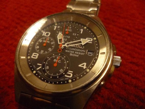 Relógio Seiko Japonês, Cronógrafo, Calendário, Vintagei