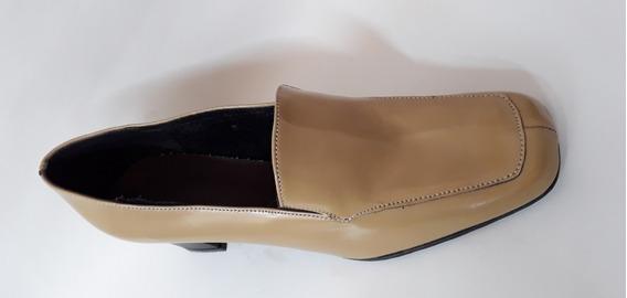 Zapato Tipo Mocasim Con Taco Numero 40