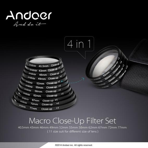 Andoer 58 Milmetros Macro Close-up Filtro