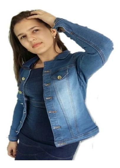 Jaqueta Jeans Feminina Com Elastano Casaco Blogueira iPhone