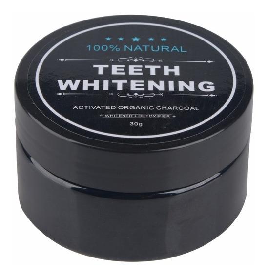 Teeth Whitening Pó Carvão Ativado Stain Remover - Black