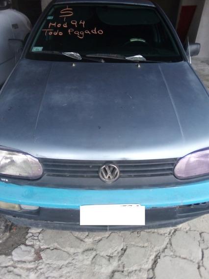 Volkswagen Golf Motor 4 Cilindros,color Azul 4 Puertas.