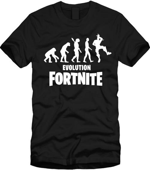 Playera Fortnite Evolución Manga Corta