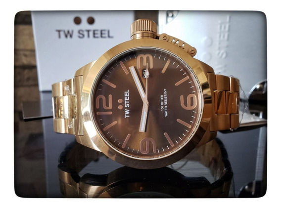 Reloj Casual Hombre Tw Steel Acero Inoxidable Oro Rosa 50mm