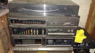 Equipo De Sonido Panasonic Tornamesa, Viniyl, Radio Auxiliar