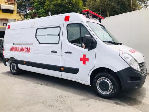 Imagem 1 de 14 de Nova Renault Master Ambulancia Uti L3h2