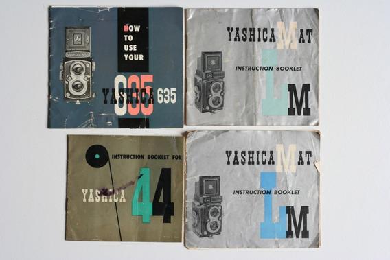 Manuais De Câmera Tlr Yashica 44, Yashica635, Yashica Mat Lm