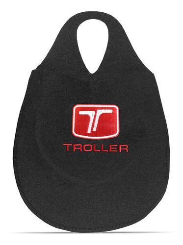 Imagem 1 de 5 de Lixeirinha Automotiva Cambio Logo Troller Carpete Bordado