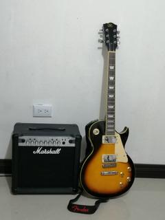 Guitarra Eléctrica Sx Y Amplificador Marshall