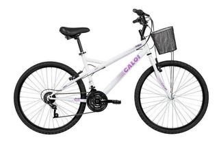 Bicicleta Caloi Aro 26 Ventura T18r26v21 A18 Branco