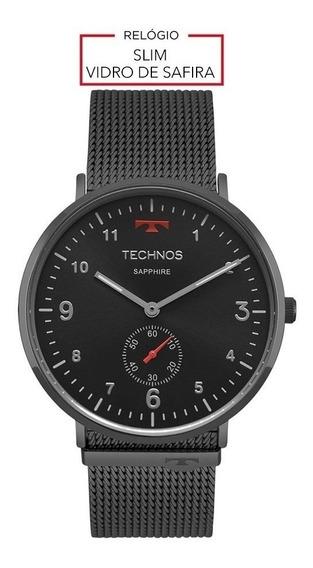 Relógio Masculino Technos - Slim Black Original Com Nf