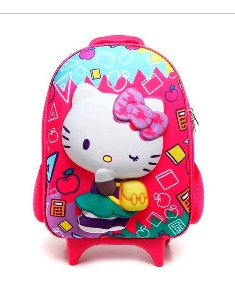 Mochila Hello Kitty Kids Maxtoy De Rodinhas