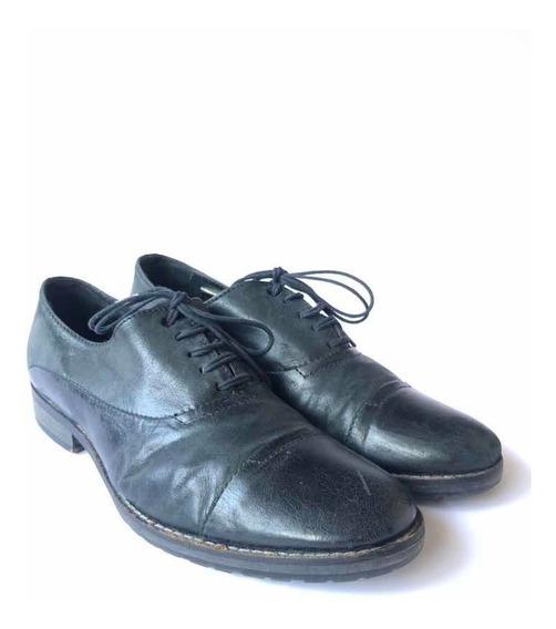 Zapatos Diésel Hombre De Cuero Negro