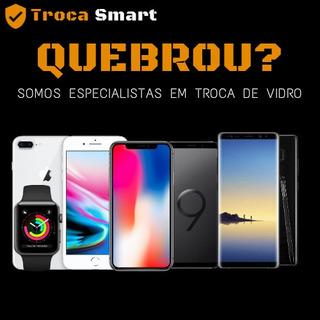 Troca Somente Do Vidro, S8, S9, S10, Plus, iPhone 8, 7, 6s