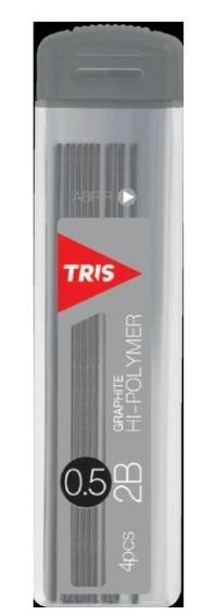 Grafite 0.5mm Escolar Resistente Preto 2b Tris