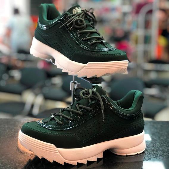 Tênis Dakota Dad Sneaker Verde Alecrim Lançamento Inverno/ A