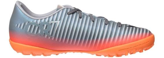 Multitacos Nike Niño Gris Naranja Mercurialx Cr7 852487001