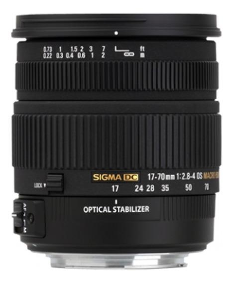 Lente Sigma 17-70mm F/2.8-4dc Macro Hsm Nikon 72mm