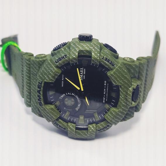 Relógio Militar Esportivo Digital S-shock Camuflado Smael