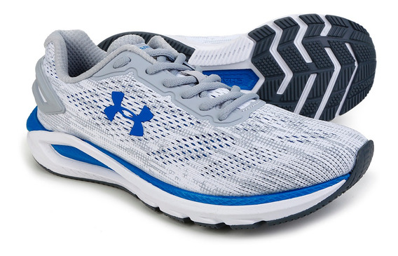 Tênis Under Armour Charged Carbon Branco E Azul - Original