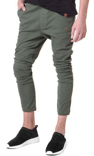 Pantalon Chino Vicus B Plain Verde Militar