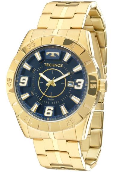 Relógio Technos Masculino Dourado 2115kyz/4a Aço 5 Atm