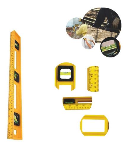 Imagem 1 de 7 de Ferramenta Nível Plástico Construção Com 3 Bolhas 40cm
