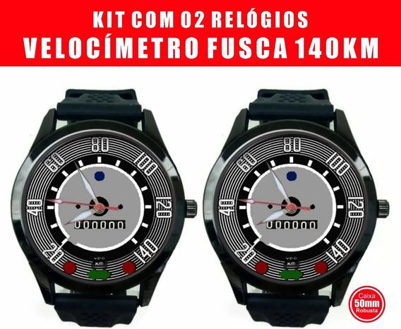 Relogio Pulso Painel Velocimetro Vw Fusca 140km Kit 02 Und