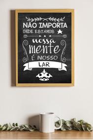 Poster A3 - Oriente Linda Louca E Mimada - Com Moldura